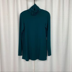 Peruvian Connection Green Extreme T-Neck Sz.XS